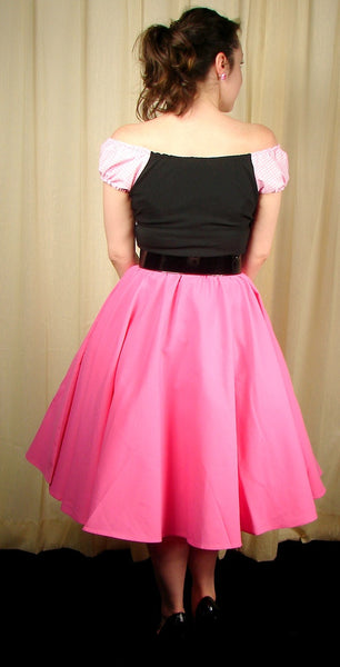 Cruisin USA Pink Full Circle Skirt for sale at Cats Like Us - 6