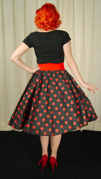 Cruisin USA Red & Black Dot Circle Skirt for sale at Cats Like Us - 4