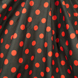 Cruisin USA Red & Black Dot Circle Skirt for sale at Cats Like Us - 5