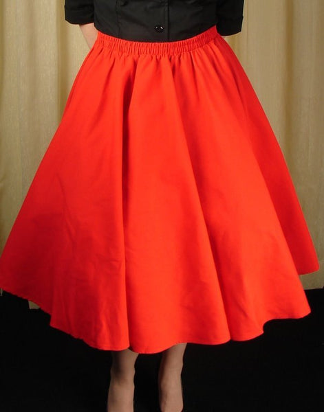 Cruisin USA Red Full Circle Skirt for sale at Cats Like Us - 4