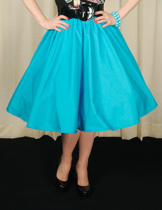 Sky Blue Full Circle Skirt