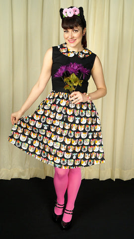 Flower Kitties Jane Dress by Dear Yesterdays : Cats Like Us