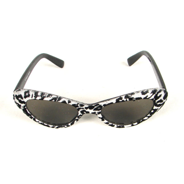 Silver Leopard Fuzzy Sunglasses by Elope