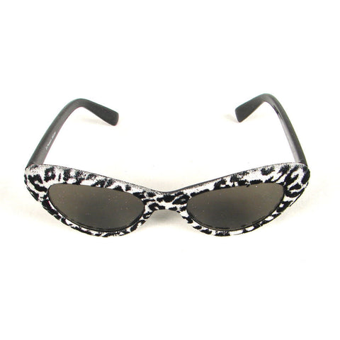 Silver Leopard Fuzzy Sunglasses by Elope : Cats Like Us