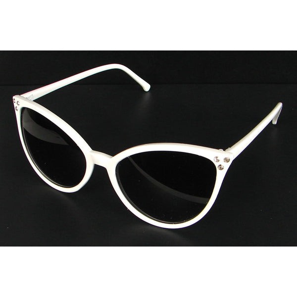 Elope White Modern Cat Eye Sunglasses for sale at Cats Like Us - 2