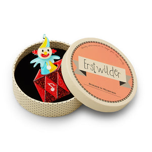 Cranky Jack in the Box Brooch by Erstwilder : Cats Like Us