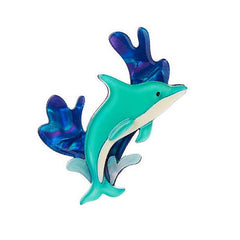 Echo of the Ocean Dolphin Pin
