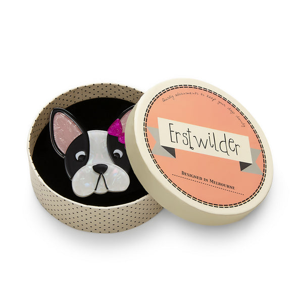 Felicia Frenchie Dog Brooch Pin by Erstwilder : Cats Like Us