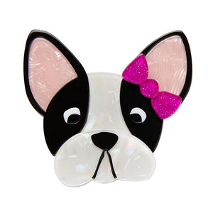 Felicia Frenchie Dog Brooch Pin