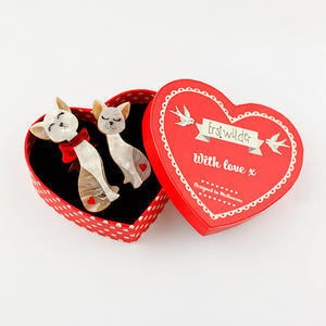 Fur Ever Friends Cat Brooch Set