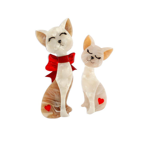 Fur Ever Friends Cat Brooch Set - Cats Like Us