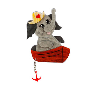 Love Boat Elephant Brooch