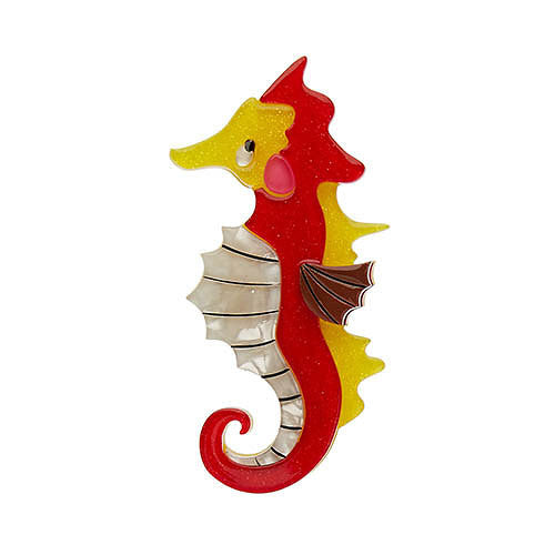 Ocean Trotter Seahorse Brooch by Erstwilder : Cats Like Us