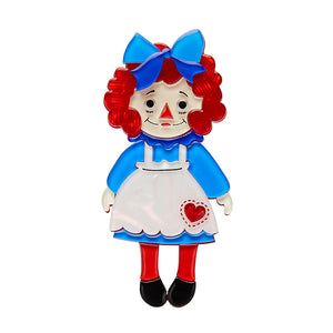 Raggedy Annie Doll Brooch Pin by Erstwilder : Cats Like Us