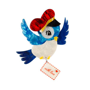 Special Delivery Bird Brooch - Cats Like Us