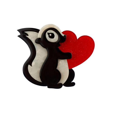 Stinkin Cute Skunk Brooch - Cats Like Us