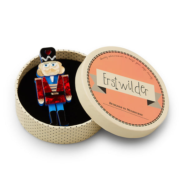 Tiny Tin Nutcracker Brooch Pin by Erstwilder : Cats Like Us