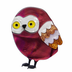 Young Archimedes Owl Brooch