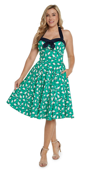 Siamese Cat Halter Dress