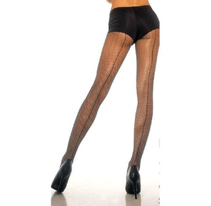 Fishnet Back Seam Pantyhose - Cats Like Us