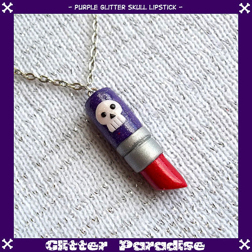 Deadly Lipstick Necklace by Glitter Paradise : Cats Like Us