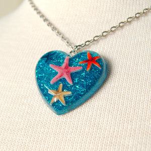 Lucite Starfish Necklace - Cats Like Us