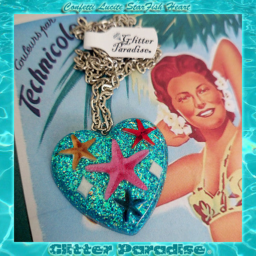 Lucite Starfish Necklace by Glitter Paradise : Cats Like Us