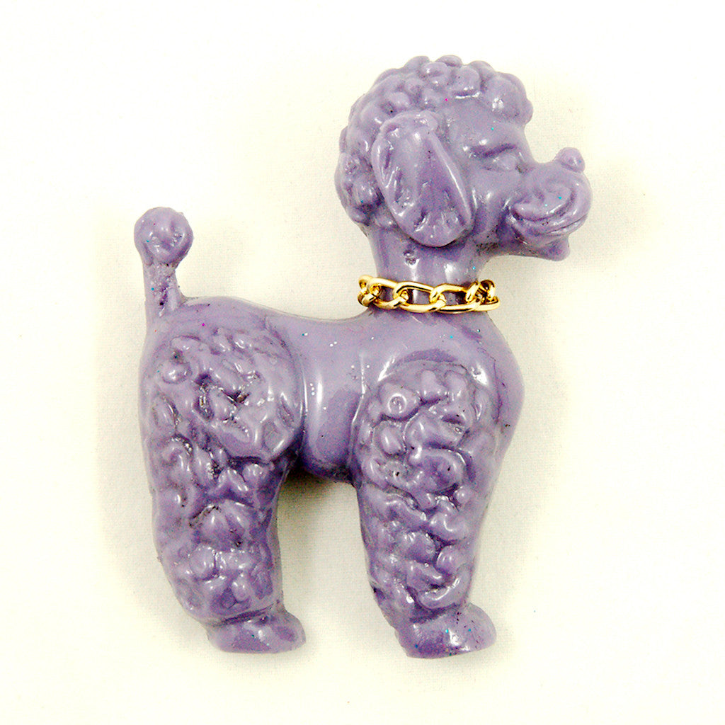 Purple Poodle Brooch by Glitter Paradise : Cats Like Us