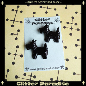 Scotty Dog Earrings by Glitter Paradise : Cats Like Us