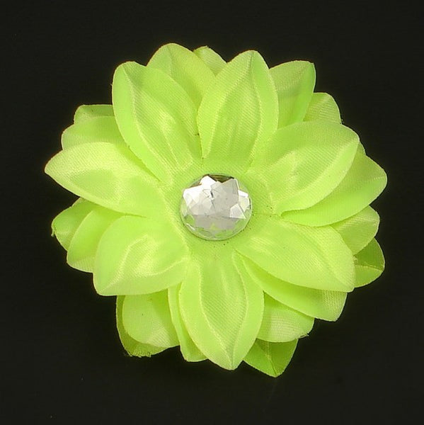 Neon Yellow Hair Flower