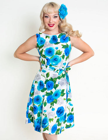 Heart of Haute Ava Rose Blue Monique Dress for sale at Cats Like Us - 1
