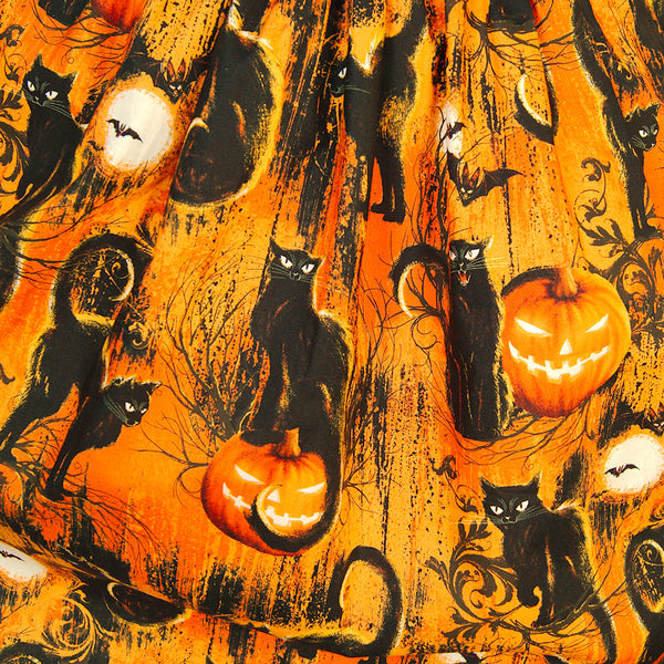 Halloween Black Cats Skirt by Heart of Haute : Cats Like Us