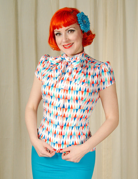 Harlequin Estelle Blouse - Cats Like Us