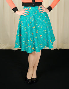 Magic Stars Teal Twirl Skirt by Heart of Haute : Cats Like Us