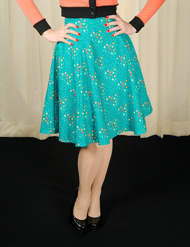 Magic Stars Teal Twirl Skirt - Cats Like Us