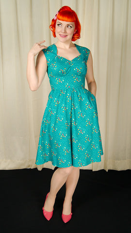 Maxine Teal Magic Stars Dress by Heart of Haute : Cats Like Us