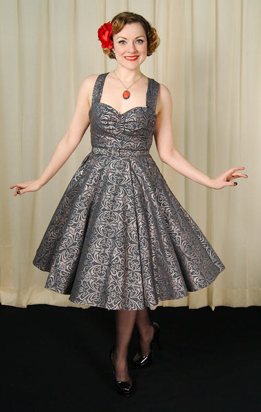 Heart of Haute Regency Gray Marseilles Dress for sale at Cats Like Us - 1