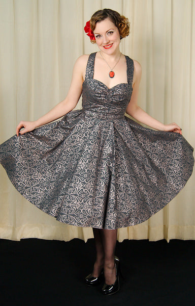 Heart of Haute Regency Gray Marseilles Dress for sale at Cats Like Us - 4