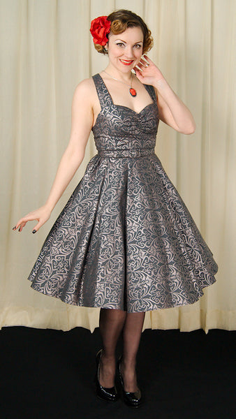 Heart of Haute Regency Gray Marseilles Dress for sale at Cats Like Us - 7