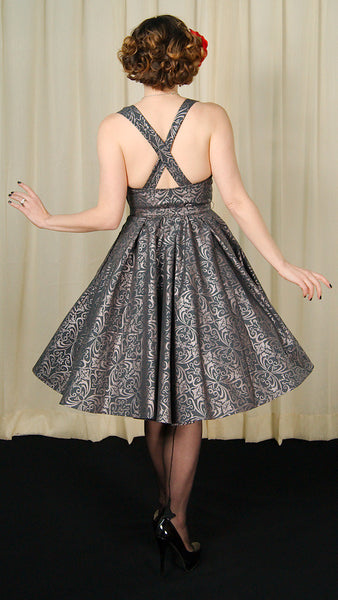 Heart of Haute Regency Gray Marseilles Dress for sale at Cats Like Us - 5