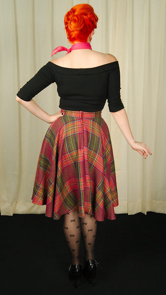 Heart of Haute Wine Country Plaid Haute Skirt for sale at Cats Like Us - 4