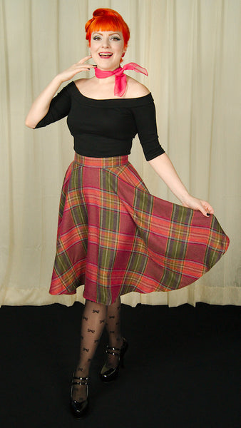 Heart of Haute Wine Country Plaid Haute Skirt for sale at Cats Like Us - 6