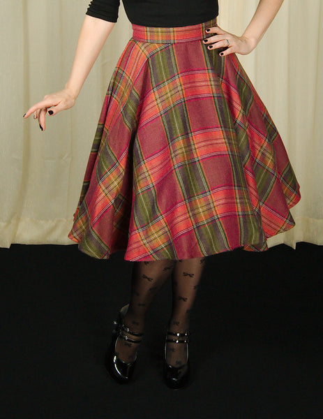 Heart of Haute Wine Country Plaid Haute Skirt for sale at Cats Like Us - 2