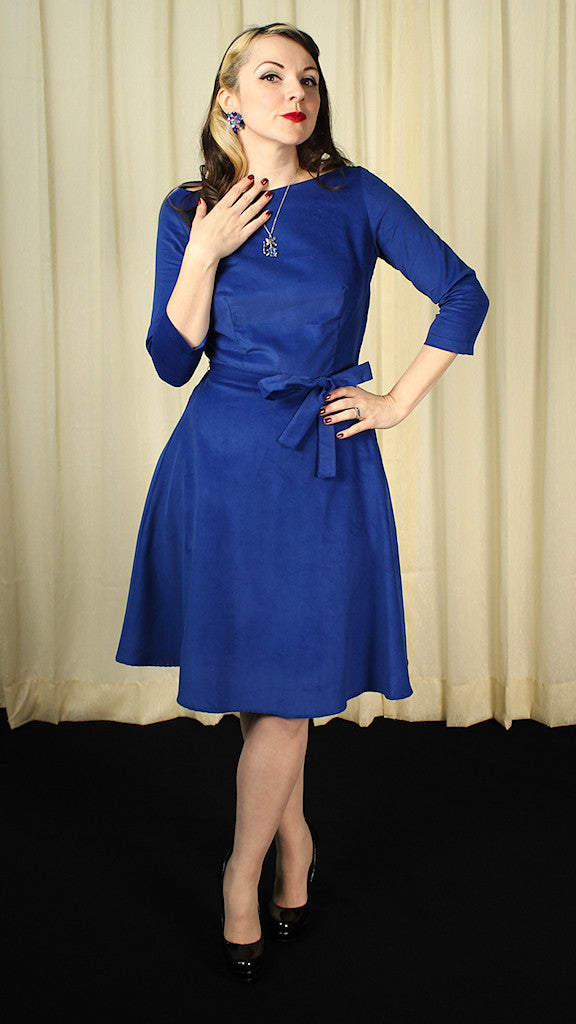 Mitzi Royal Corduroy Dress by Heart of Haute : Cats Like Us