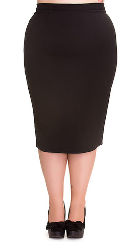 Black Joni Pencil Skirt by Hell Bunny : Cats Like Us