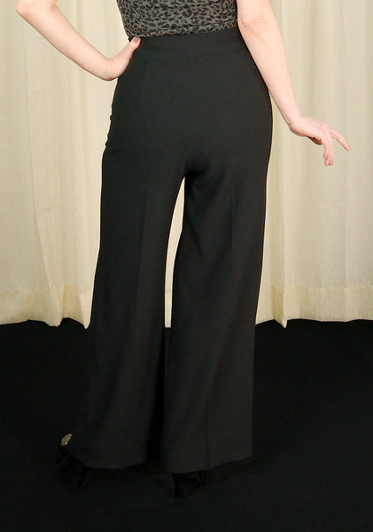Black Nelly Bly Sailor Trousers - Cats Like Us