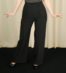 Black Nelly Bly Sailor Trousers