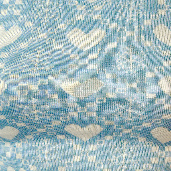 Blue Aurora Snow Love Sweater by Hell Bunny : Cats Like Us