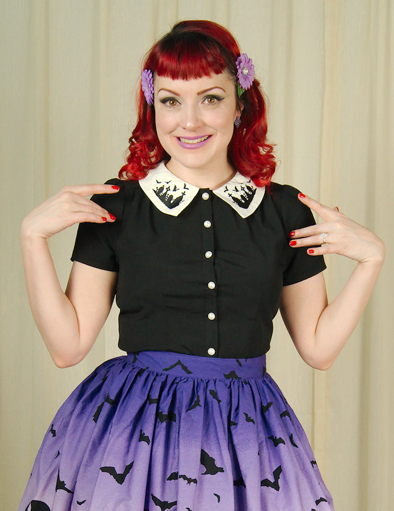 Graveyard Blouse by Hell Bunny : Cats Like Us