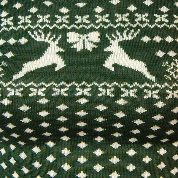 Green Deer Belle Sweater by Hell Bunny : Cats Like Us